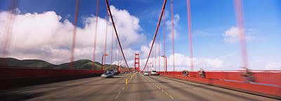 Cars On A Bridge, Golden Gate Bridge Art Print by Panoramic Images