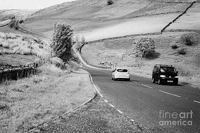 Carriageway Photograph - Cars On A6 Road Through The Borrowdale Valley In Cumbria Uk by Joe Fox