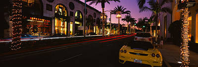 Cars Parked On The Road, Rodeo Drive Art Print