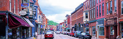 Daviess County Photograph - Cars Parked On The Street, Galena, Jo by Panoramic Images
