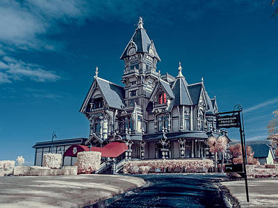 Carson Mansion Photograph - Carson Mansion Driveway by Greg Nyquist