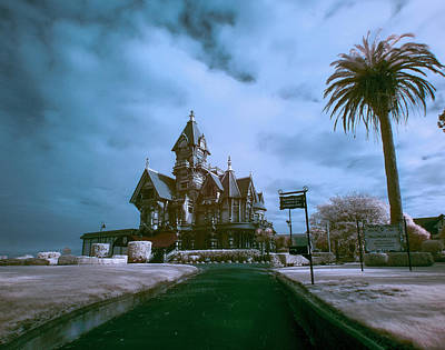 Carson Mansion Photograph - Carson Mansion In Infrared by Greg Nyquist