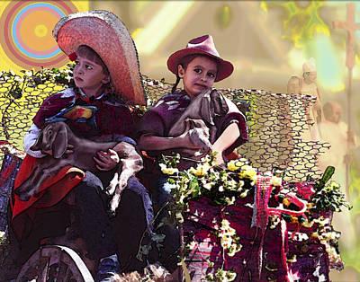 Cart Boys Art Print