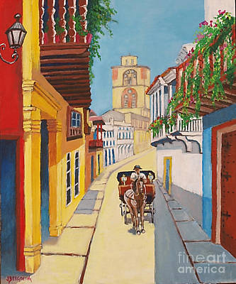 Cartagena's Calash Art Print