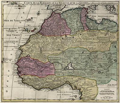 Guinee Photograph - Carte De La Barbarie Le La Nigritie Et Del La Guinee  1792 by Compass Rose Maps
