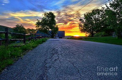 Carter Farm At Sunset Hdr Art Print by Sabine Jacobs