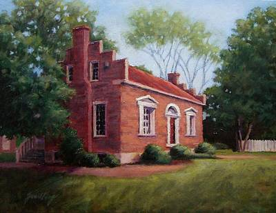 Civil War Site Painting - Carter House In Franklin Tennessee by Janet King