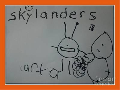 Nanas Art Drawing - Carters Skylanders by Cindy McClung