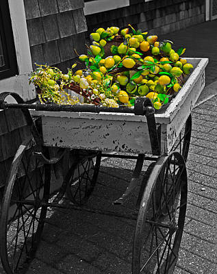 Cartful Of Lemons And Apples Art Print