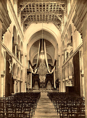Berber Woman Photograph - Carthage, The Interior Of The Cathedral, Algiers, Neurdein by Litz Collection