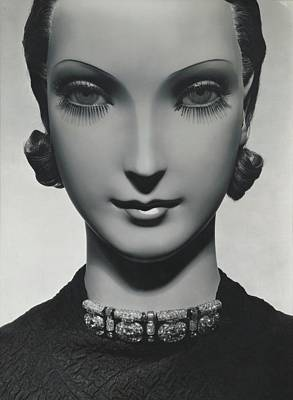 Photograph - Cartier Jewelry On A Mannequin by George Hoyningen-Huene