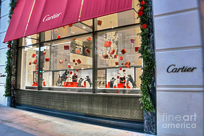 Photograph - Cartier Rodeo Drive Beverly Hills Ca by David Zanzinger