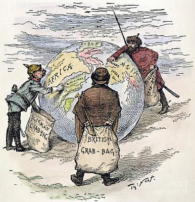 Cartoon - Imperialism 1885 Art Print by Granger