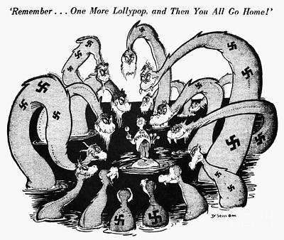 Cartoon - World War II Art Print by Granger