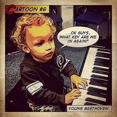 Beethoven Wall Art - Photograph - Cartoon #6 by Tyrone Stokes