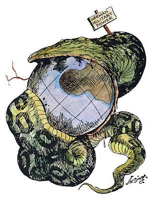 Python Painting - Cartoon Anti-german, C1917 by Granger