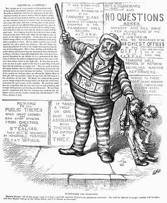 Theft Painting - Cartoon Arrest Of Tweed by Granger