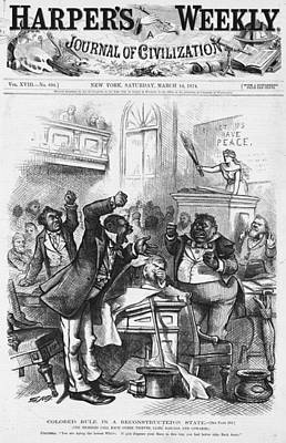 Cartoon Black Legislature Art Print by Granger