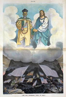 Cartoon Boxer Rebellion, 1900 Art Print