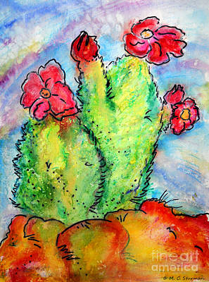 Painting - Cartoon Cactus by M C Sturman