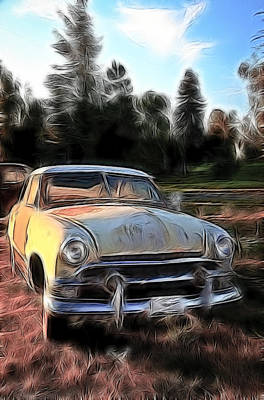 Photograph - Cartoon Chevy Sundown II by Athena Mckinzie