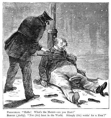 Cartoon Drunkenness, 1869 Art Print