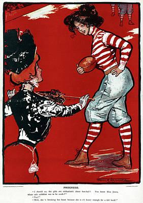 American Football Drawing - Cartoon Football, 1901 by Granger