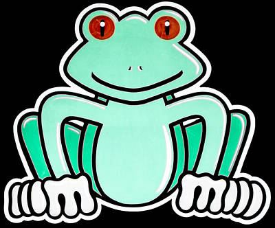 Digital Art - Cartoon Frog by Photographic Art by Russel Ray Photos
