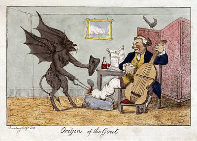 Painting - Cartoon Gout, C1815 by Granger