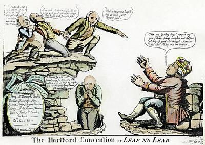 Cartoon Hartford Convention, 1815 Art Print by Granger