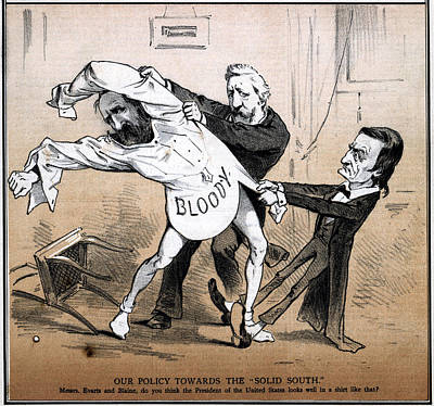 Solid Painting - Cartoon Hayes, 1878 by Granger