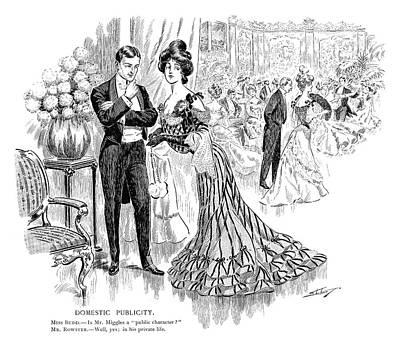 Cartoon High Society, 1904 Art Print