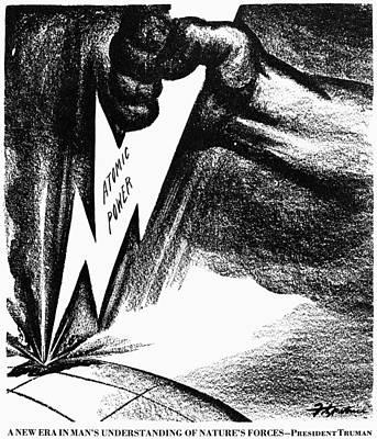 Lightning D Photograph - Cartoon: Hiroshima, 1945 by Granger