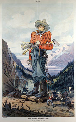 Cartoon Homesteader, 1909 Art Print by Granger