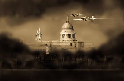 Digital Art - Cartoon - Hurricanes Over St Paul's by Gary Eason