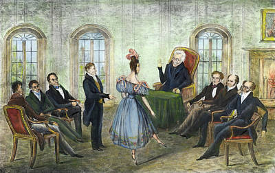 Cartoon Jackson And Eaton, 1836 Art Print by Granger