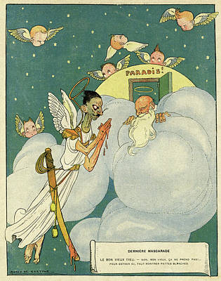 First Star Drawing - Cartoon, Last Masquerade by Mary Evans Picture Library