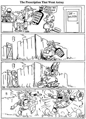 Cartoon: League Of Nations Art Print by Granger