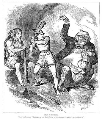 Cartoon Monopoly, 1881 Print by Granger