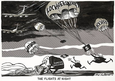 Painting - Cartoon Night Flights, 1976 by Granger