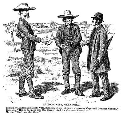 Destiny Painting - Cartoon Oklahoma, 1891 by Granger