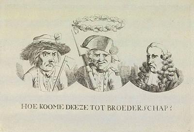 Cartoon On Equality And Brotherhood, 1795 Art Print