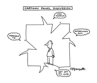 Face Drawing - Cartoon Panel Discussion by Charles Barsotti