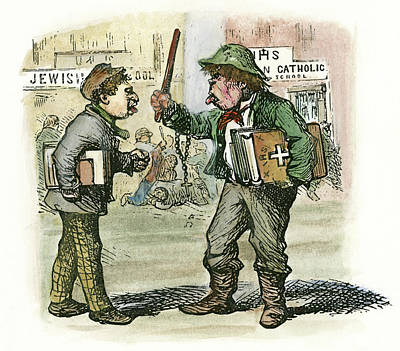 Cartoon Parochial Schools, 1870 Art Print