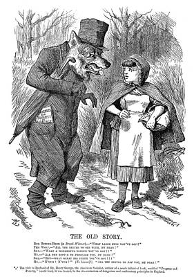 Painting - Cartoon Socialism, 1879 by Granger