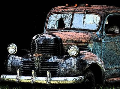 Photograph - Cartoon Truck by Kathy Williams-Walkup