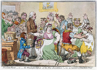 Ladle Photograph - Cartoon: Vaccination, 1802 by Granger