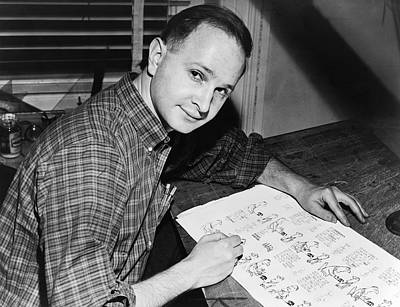 Artist Working Photograph - Cartoonist Jules Feiffer by Dick DeMarsico