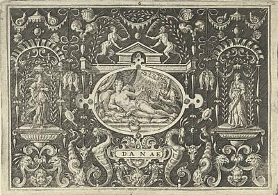 Cartouche With The Presentation Of Danae Art Print