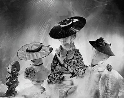 Cartwheel Photograph - Cartwheel-style Hats By Wanamaker And J.w by Cecil Beaton